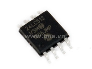 I2C Serial EEPROM 512KBIT 1MHZ SOIC8